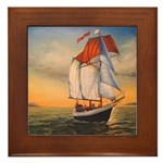 "Framed Tile Schooner ""Freedom"""