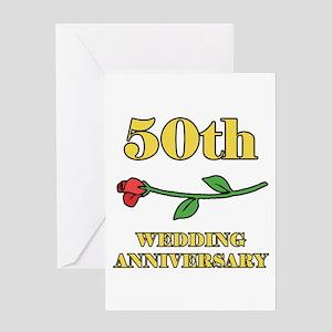 50th Rose Greeting Card