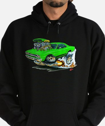 Plymouth GTX Green Car Hoodie (dark)