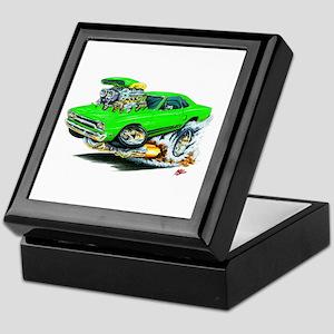 Plymouth GTX Green Car Keepsake Box
