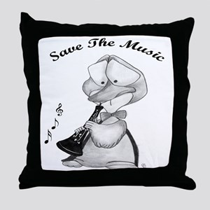 Save the Music Throw Pillow
