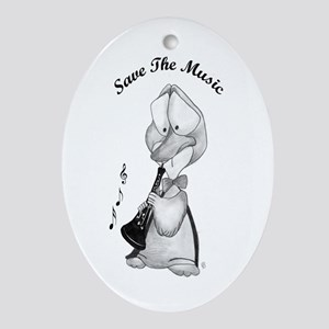 Save the Music Oval Ornament