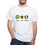 Peace Love Aussies White T-Shirt