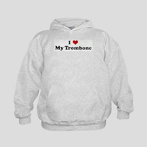 I Love My Trombone Kids Hoodie