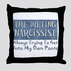 Dieting Narcissist Throw Pillow