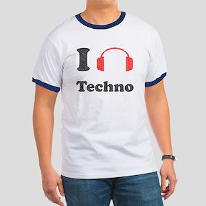 I <3 Techno Ringer T