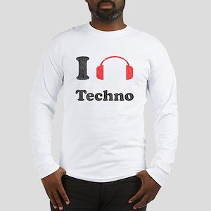 I <3 Techno Long Sleeve T-Shirt