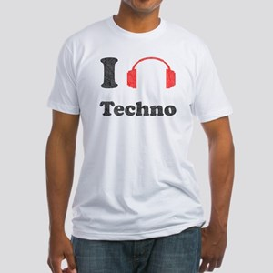 I <3 Techno Fitted T-Shirt