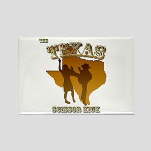 Texas Scissor Kick Rectangle Magnet