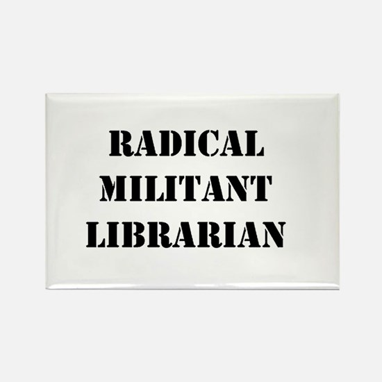 Funny Radical librarian Rectangle Magnet