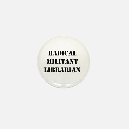 Cute Militant radical librarian Mini Button