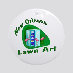 New Orleans Lawn Art Ornament (Round)