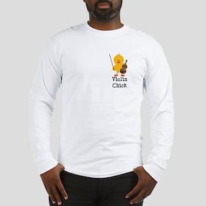 Violin Chick Long Sleeve T-Shirt
