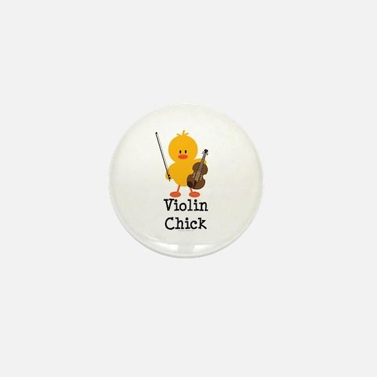 Violin Chick Mini Button (10 pack)