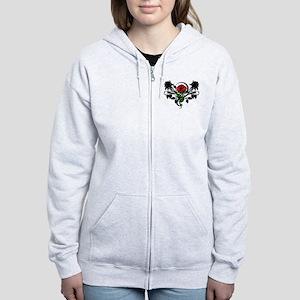 Rose tattoo Women's Zip Hoodie