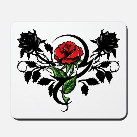 Rose tattoo Mousepad
