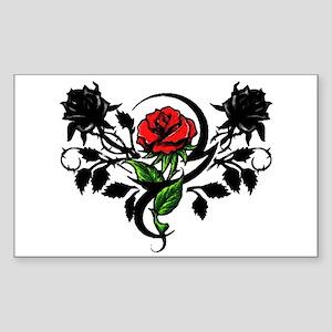 Rose tattoo Rectangle Sticker