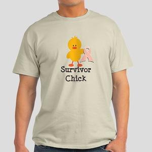 Pink Ribbon Survivor Chick Light T-Shirt