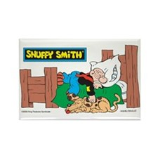 Snuffy Sleeping Rectangle Magnet