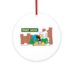 Snuffy Sleeping Ornament (Round)