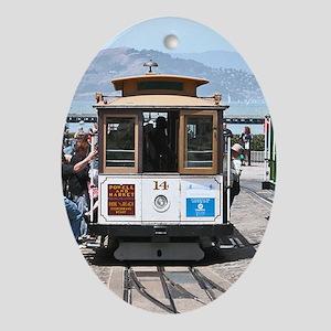 SF Cable Car - Gift Ornament/Keepsake Oval