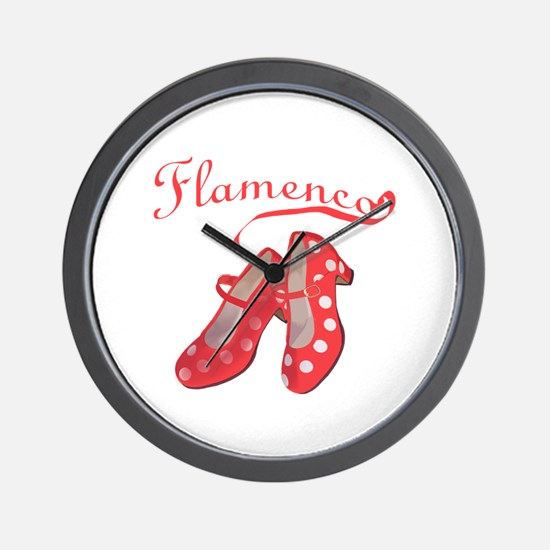 Red Flamenco Shoes Wall Clock