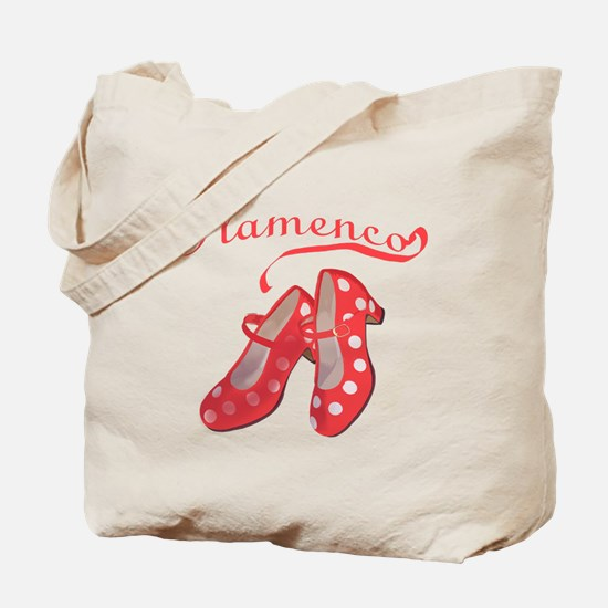 Red Flamenco Shoes Tote Bag