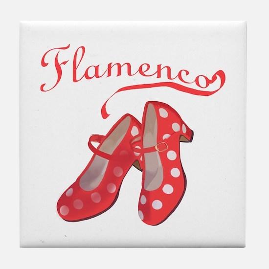 Red Flamenco Shoes Tile Coaster