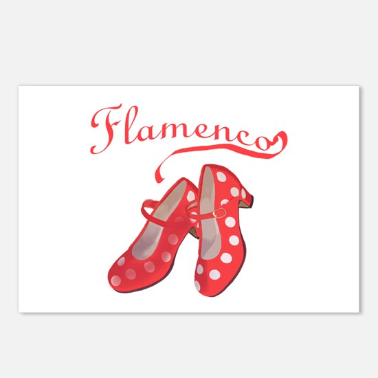 Red Flamenco Shoes Postcards (Package of 8)