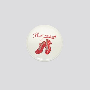 Red Flamenco Shoes Mini Button