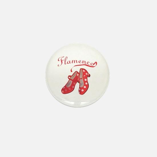 Red Flamenco Shoes Mini Button