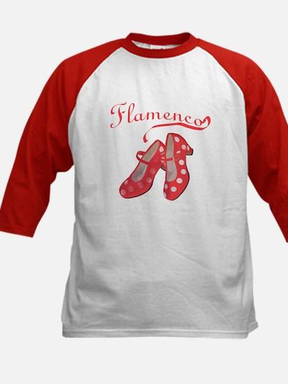 Red Flamenco Shoes Kids Baseball Jersey