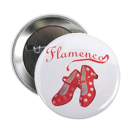 """Red Flamenco Shoes 2.25"""" Button (10 pack)"""