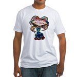 Las Vegas White Fitted T-Shirt