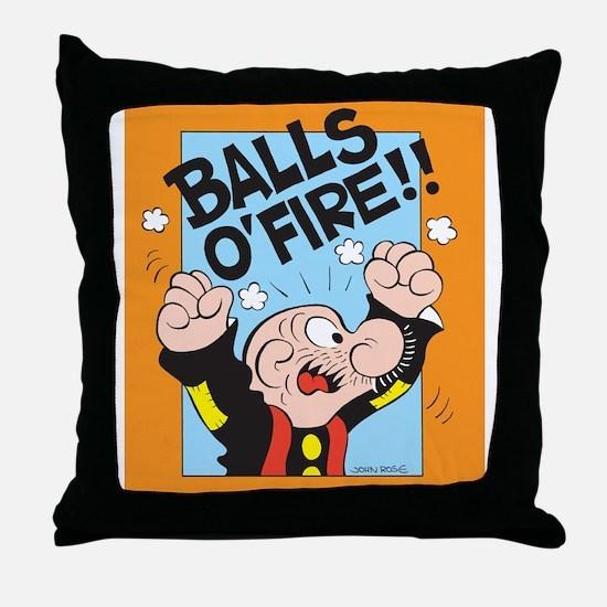 Balls O'Fire! Throw Pillow