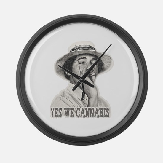 Yes We Cannabis Large Wall Clock