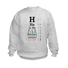 Chemistry eye chart kids' sweatshirt