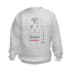 Hieroglyphs eye chart kids' sweatshirt