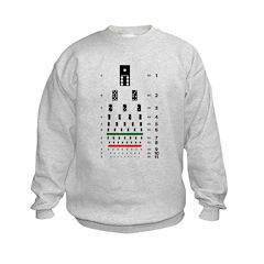 Dominoes eye chart kids' sweatshirt