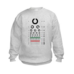 Landolt C eye chart kids' sweatshirt
