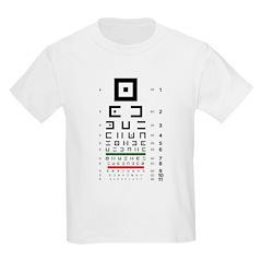 Abstract symbols eye chart kids' T-shirt #2