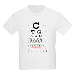 DNA bases eye chart kids' T-shirt
