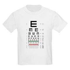 Tumbling E eye chart kids' T-shirt