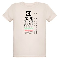 Backwards letters eye chart organic kids' T-shirt