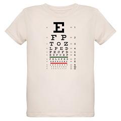 Blurring letters eye chart organic kids' T-shirt