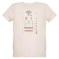 Hieroglyphs eye chart organic kids' T-shirt
