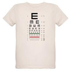 Tumbling E eye chart organic kids' T-shirt