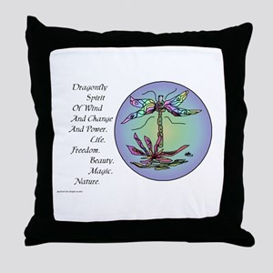 BRIGHT DRAGONFLY SPIRIT Throw Pillow