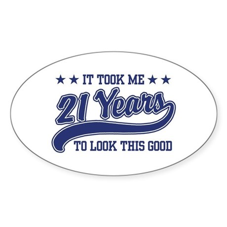 21st Birthday Oval Sticker