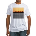 Winter Sunset 0208 Fitted T-Shirt